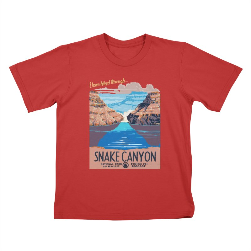 Snake Canyon Hourglass Kids T-Shirt by Finish It! Podcast Merchzone