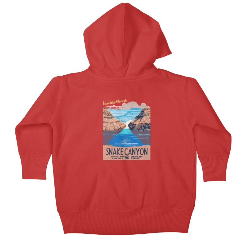 Snake Canyon Hourglass Kids Baby Zip-Up Hoody by Finish It! Podcast Merchzone