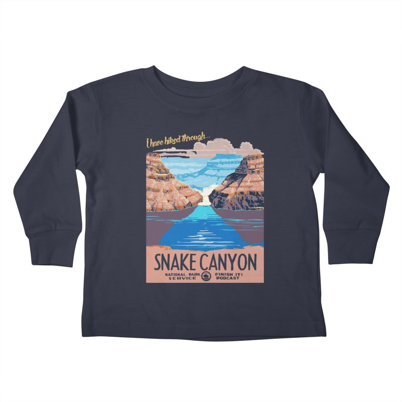 Snake Canyon Hourglass Kids Toddler Longsleeve T-Shirt by Finish It! Podcast Merchzone