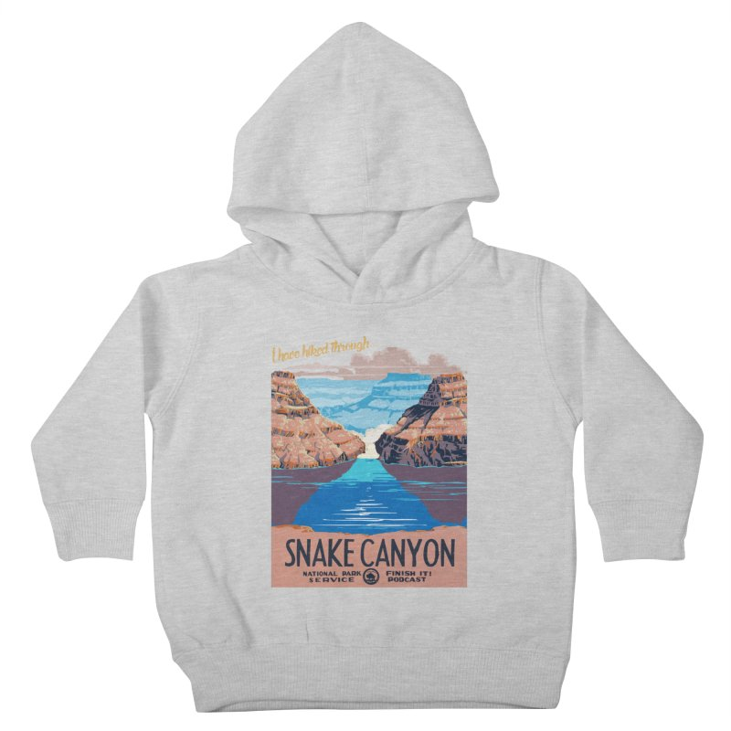 Snake Canyon Hourglass Kids Toddler Pullover Hoody by Finish It! Podcast Merchzone