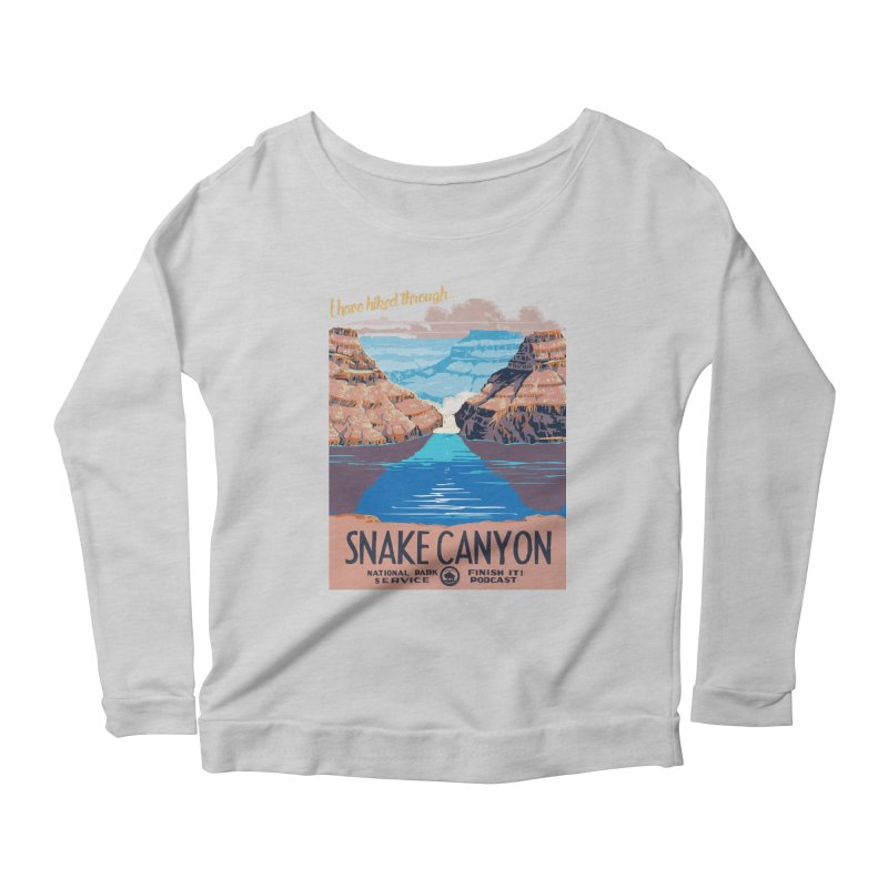 Snake Canyon Hourglass Women's Scoop Neck Longsleeve T-Shirt by Finish It! Podcast Merchzone