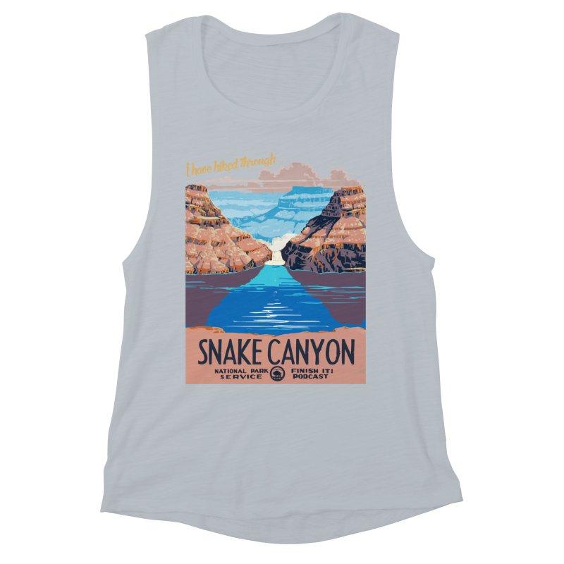 Snake Canyon Hourglass Women's Muscle Tank by Finish It! Podcast Merchzone