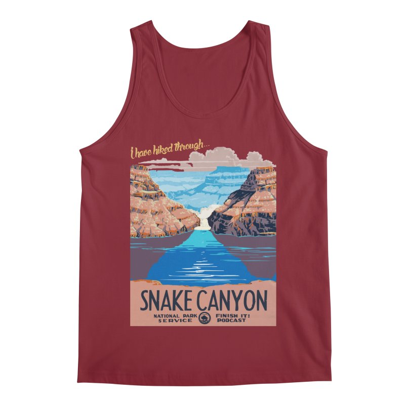 Snake Canyon Hourglass Men's Tank by Finish It! Podcast Merchzone