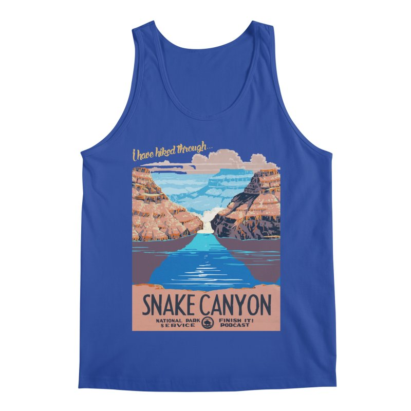 Snake Canyon Hourglass Men's Regular Tank by Finish It! Podcast Merchzone