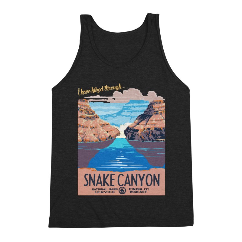 Snake Canyon Hourglass Men's Triblend Tank by Finish It! Podcast Merchzone