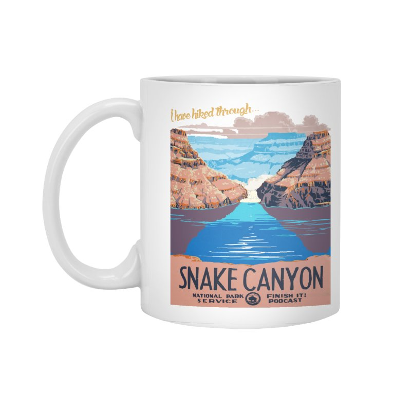 Snake Canyon Hourglass Accessories Standard Mug by Finish It! Podcast Merchzone