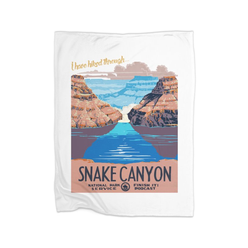 Snake Canyon Hourglass Home Fleece Blanket Blanket by Finish It! Podcast Merchzone