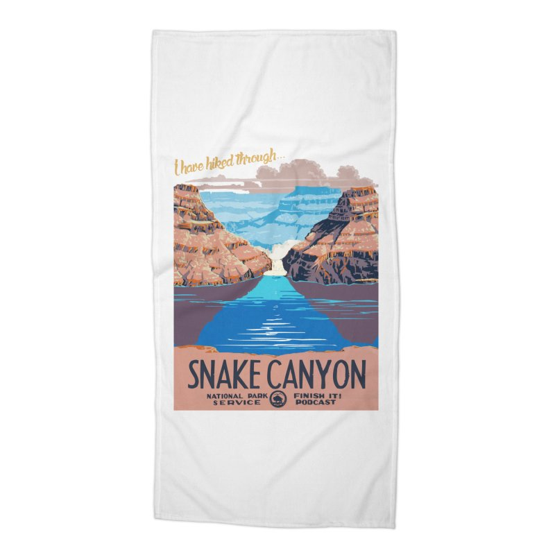 Snake Canyon Hourglass Accessories Beach Towel by Finish It! Podcast Merchzone