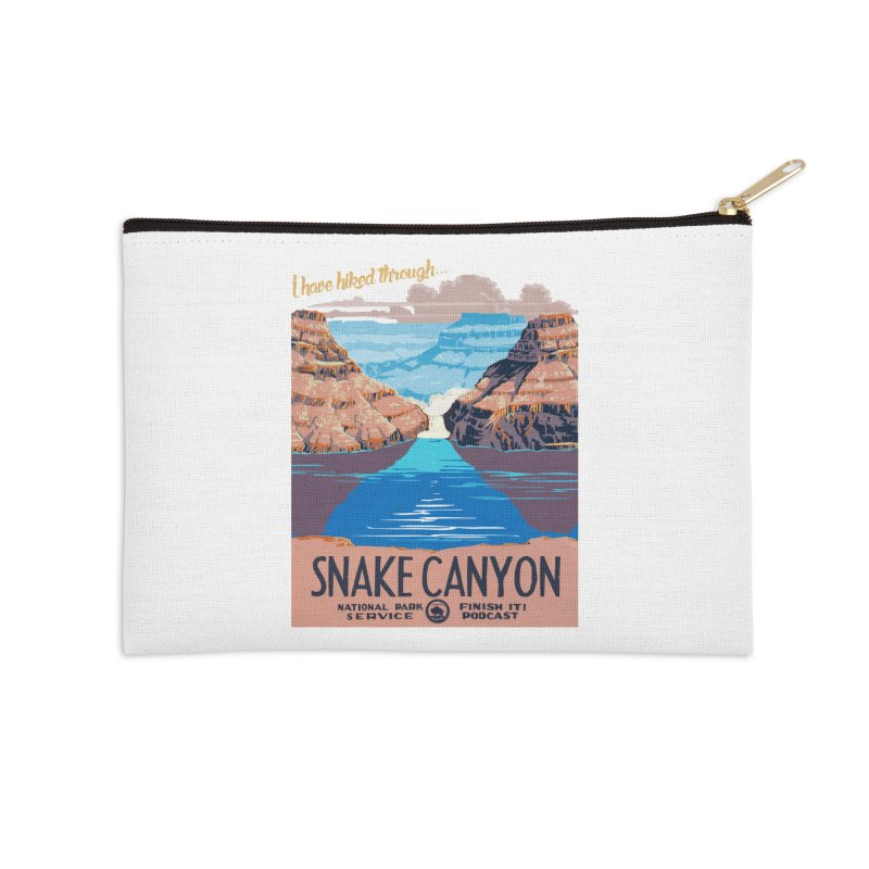 Snake Canyon Hourglass Accessories Zip Pouch by Finish It! Podcast Merchzone