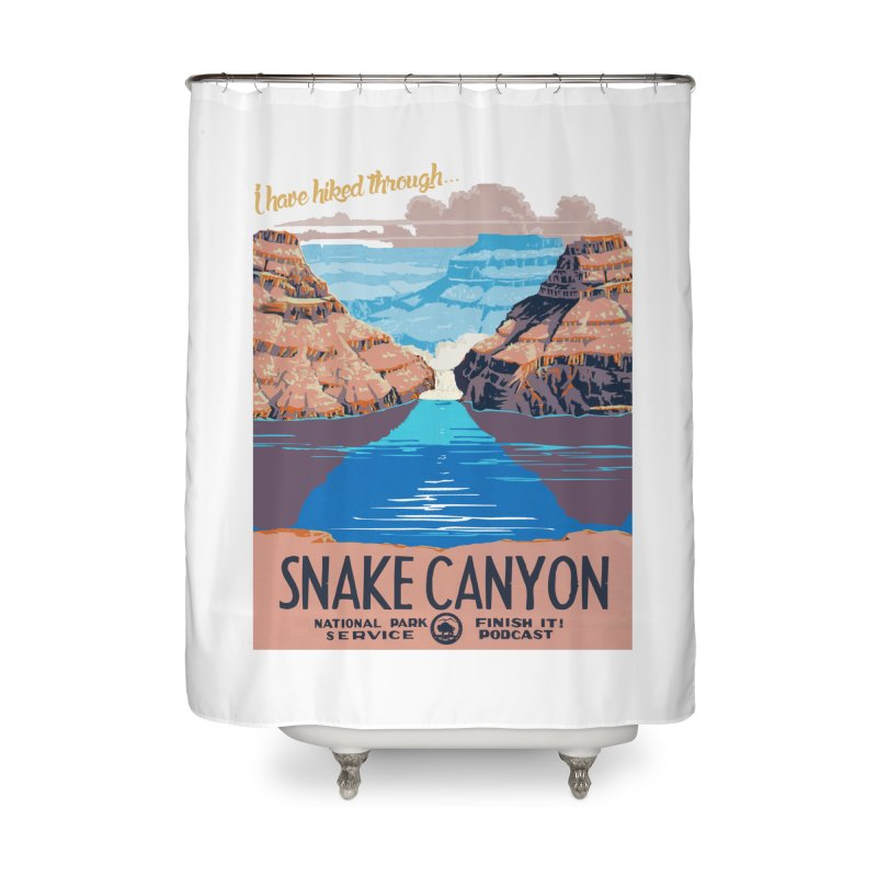 Snake Canyon Hourglass Home Shower Curtain by Finish It! Podcast Merchzone