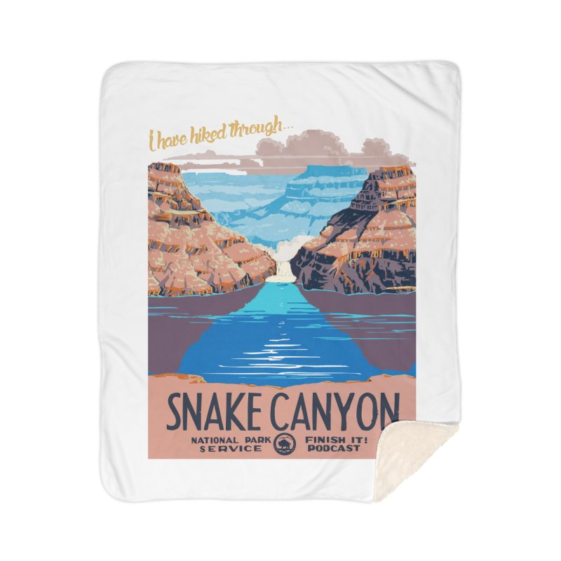 Snake Canyon Hourglass Home Sherpa Blanket Blanket by Finish It! Podcast Merchzone