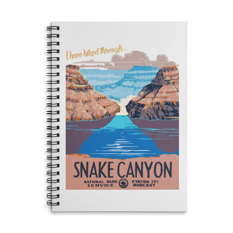 Snake Canyon Hourglass Accessories Lined Spiral Notebook by Finish It! Podcast Merchzone