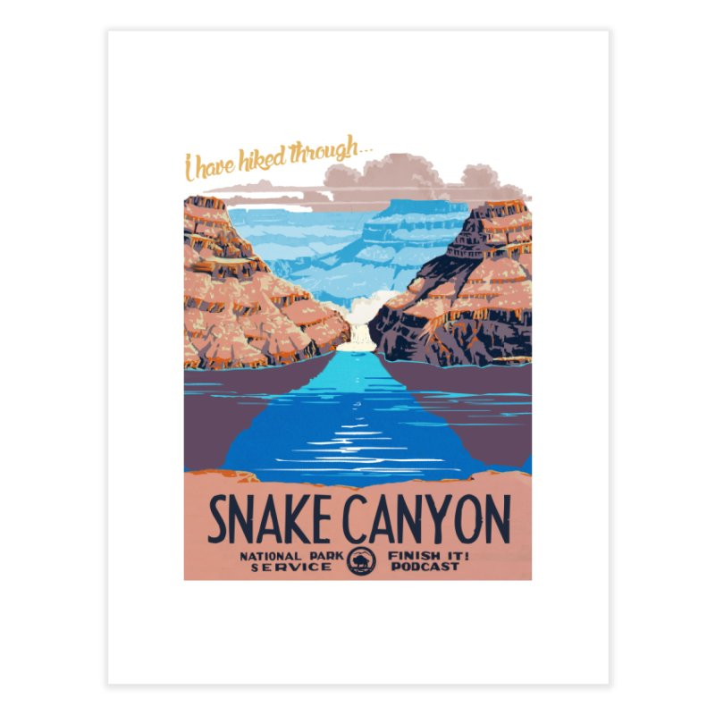 Snake Canyon Hourglass Home Fine Art Print by Finish It! Podcast Merchzone