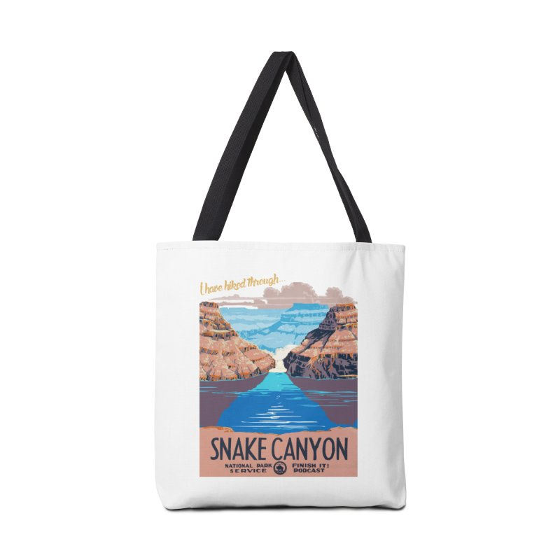 Snake Canyon Hourglass Accessories Tote Bag Bag by Finish It! Podcast Merchzone