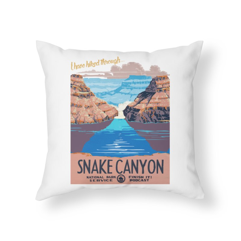 Snake Canyon Hourglass Home Throw Pillow by Finish It! Podcast Merchzone