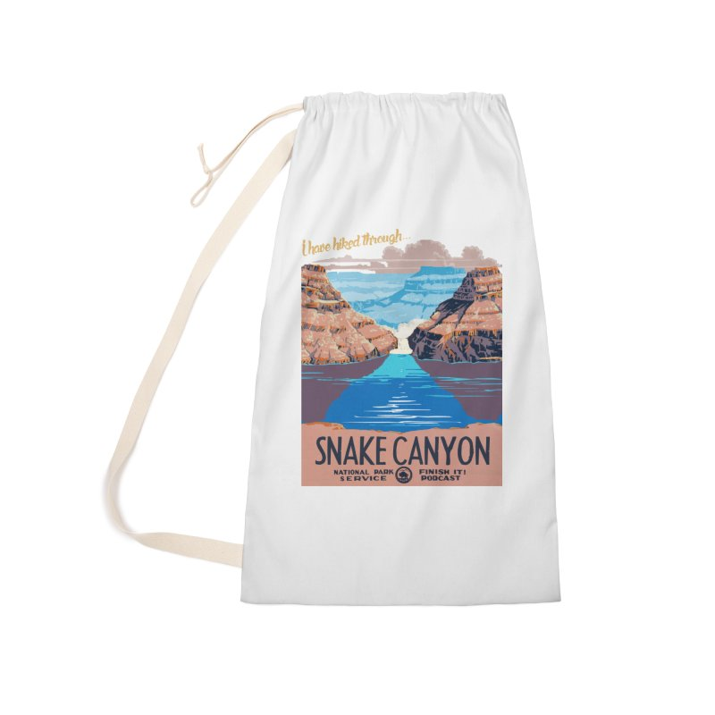 Snake Canyon Hourglass Accessories Laundry Bag Bag by Finish It! Podcast Merchzone