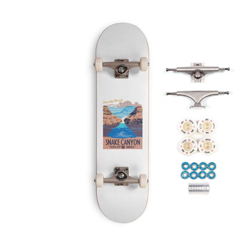 Snake Canyon Hourglass Accessories Complete - Premium Skateboard by Finish It! Podcast Merchzone