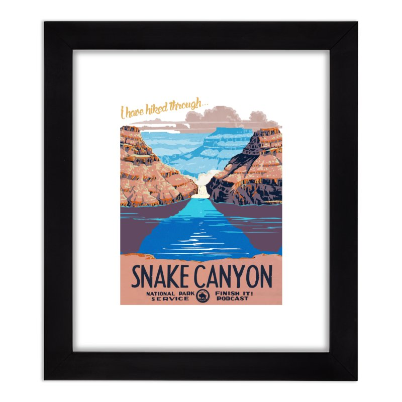 Snake Canyon Hourglass Home Framed Fine Art Print by Finish It! Podcast Merchzone