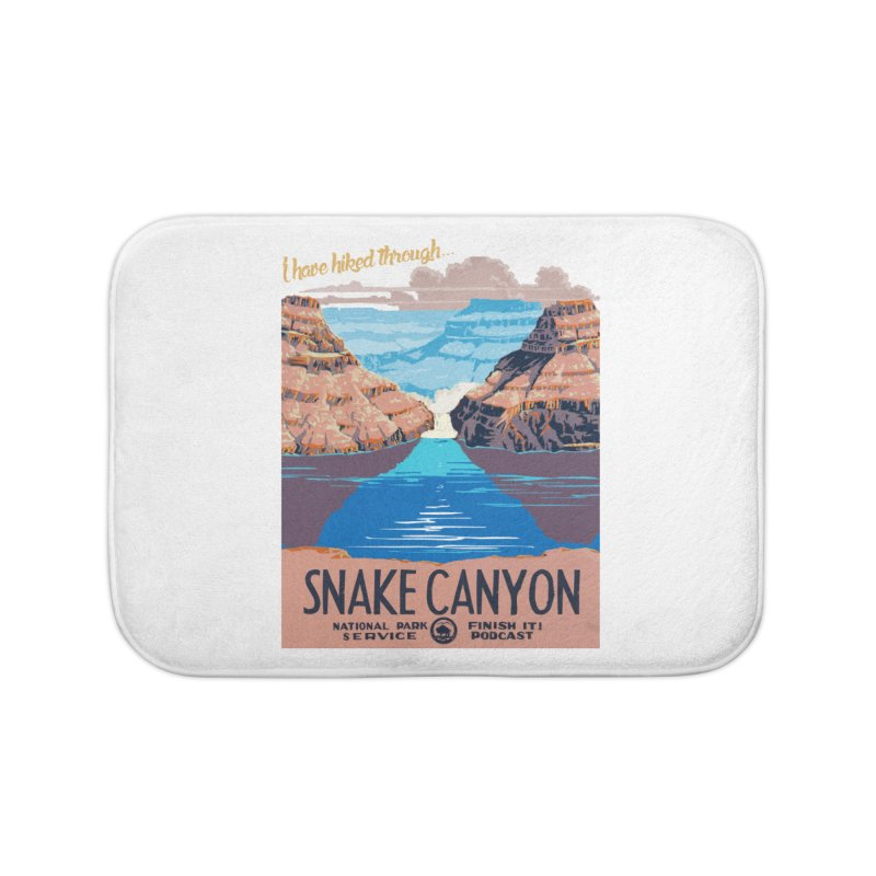 Snake Canyon Hourglass Home Bath Mat by Finish It! Podcast Merchzone
