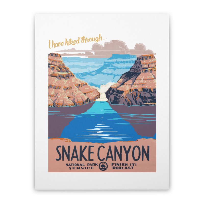 Snake Canyon Hourglass Home Stretched Canvas by Finish It! Podcast Merchzone