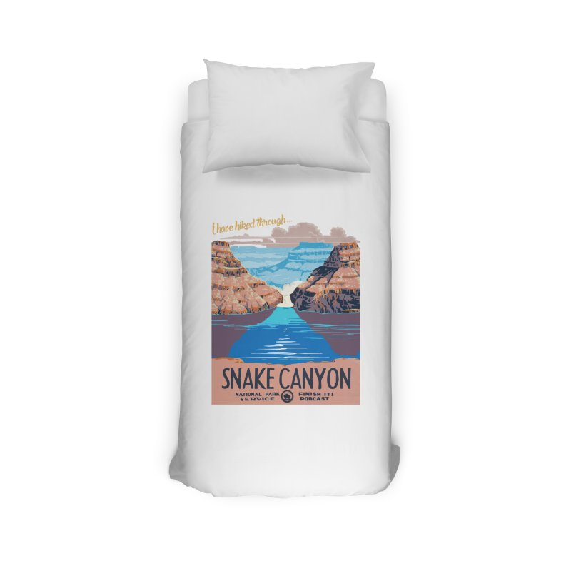 Snake Canyon Hourglass Home Duvet by Finish It! Podcast Merchzone