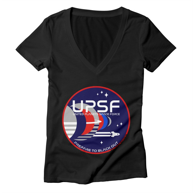United Planets Space Force Logo Women's V-Neck by Finish It! Podcast Merchzone