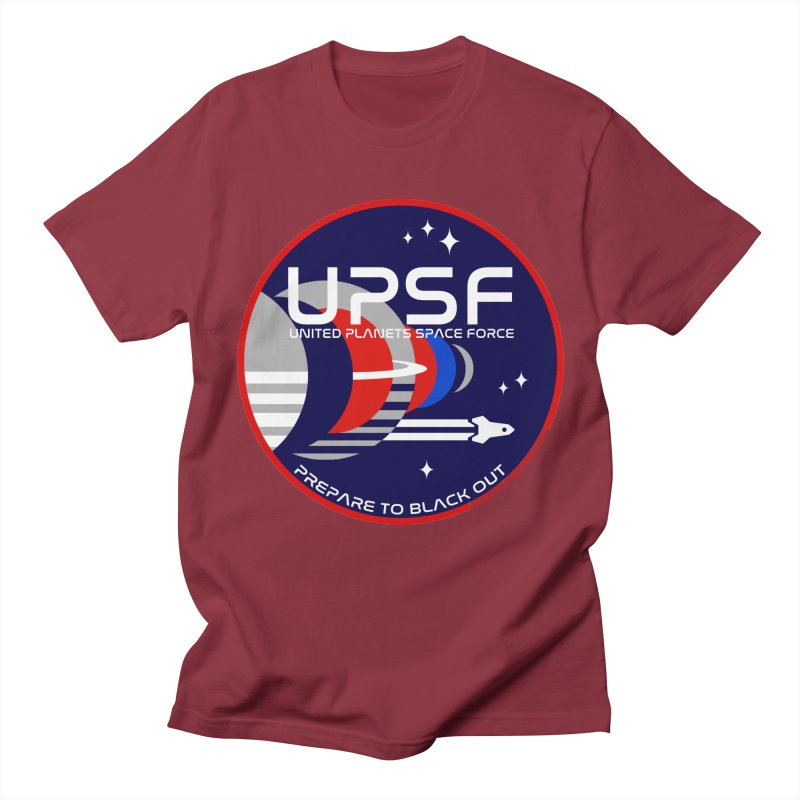 United Planets Space Force Logo Men's T-Shirt by Finish It! Podcast Merchzone