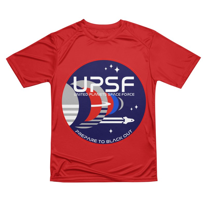 United Planets Space Force Logo Women's Performance Unisex T-Shirt by Finish It! Podcast Merchzone