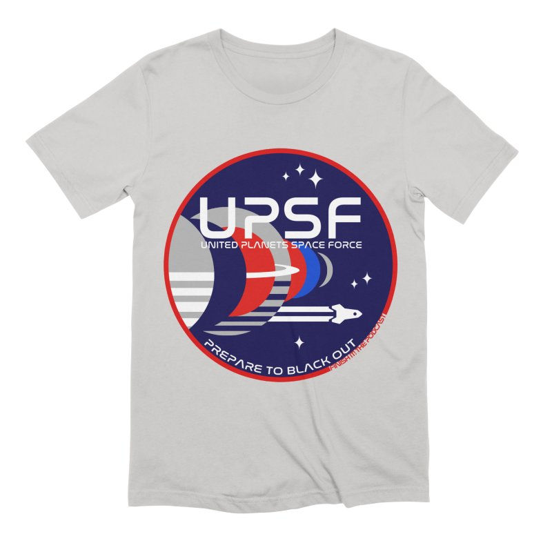 United Planets Space Force Logo Men's Extra Soft T-Shirt by Finish It! Podcast Merchzone