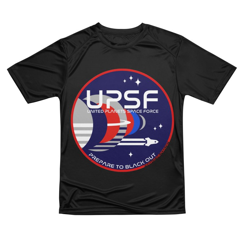 United Planets Space Force Logo Men's Performance T-Shirt by Finish It! Podcast Merchzone