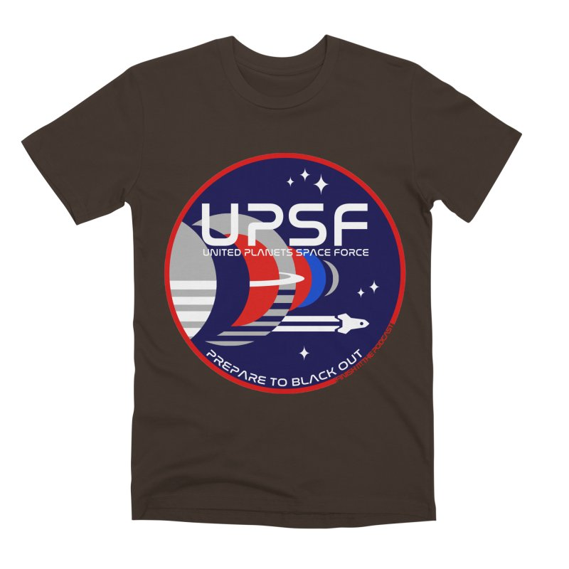 United Planets Space Force Logo Men's Premium T-Shirt by Finish It! Podcast Merchzone