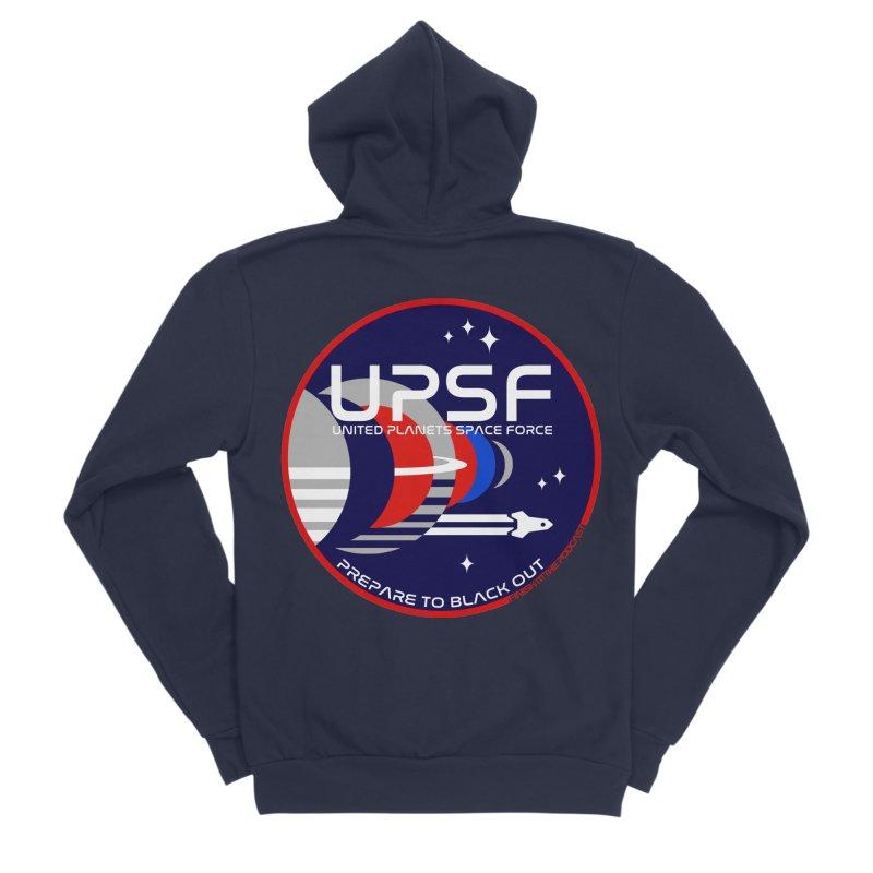 United Planets Space Force Logo Women's Sponge Fleece Zip-Up Hoody by Finish It! Podcast Merchzone