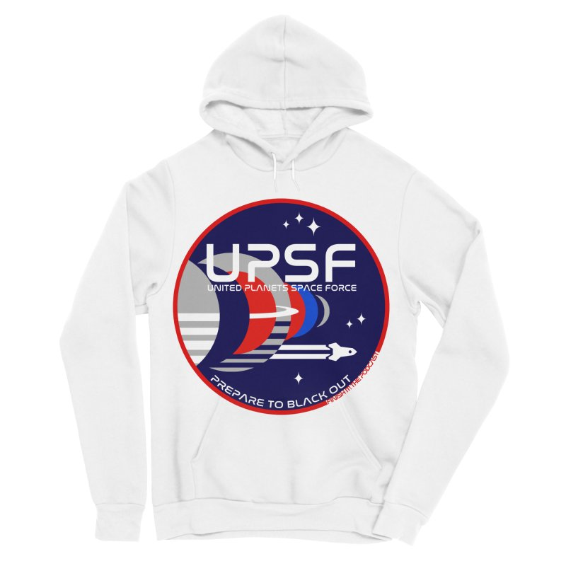 United Planets Space Force Logo Men's Sponge Fleece Pullover Hoody by Finish It! Podcast Merchzone