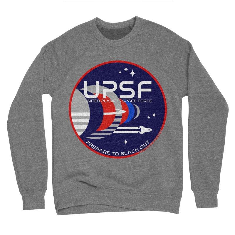 United Planets Space Force Logo Men's Sponge Fleece Sweatshirt by Finish It! Podcast Merchzone