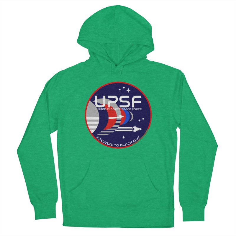 United Planets Space Force Logo Men's Pullover Hoody by Finish It! Podcast Merchzone