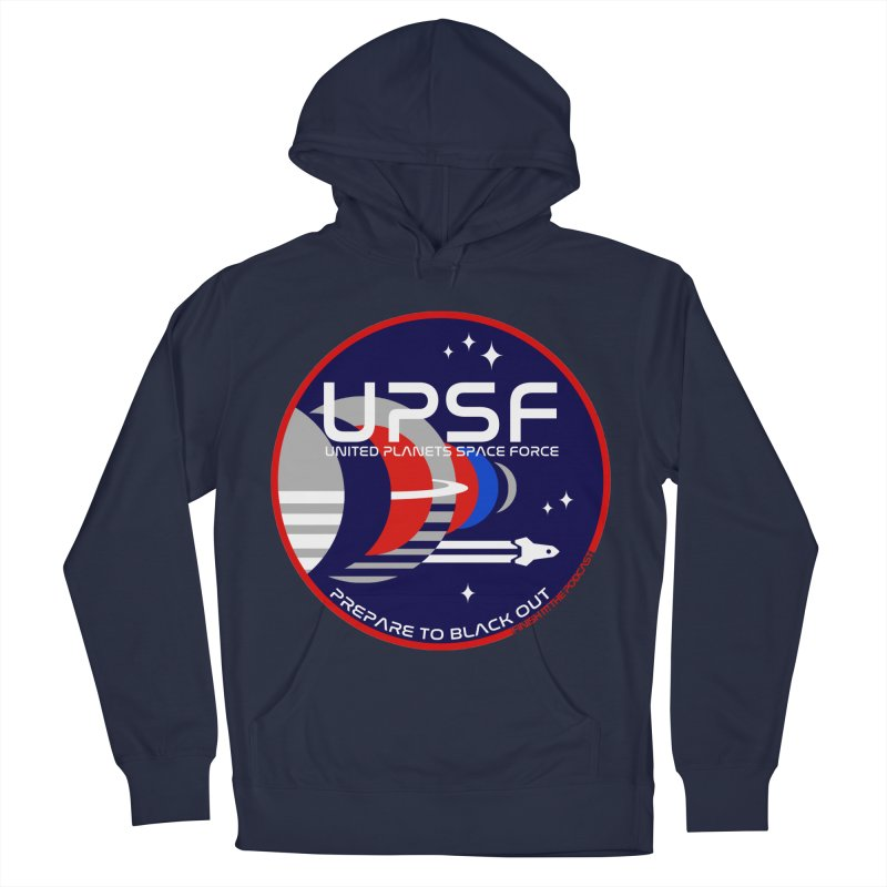 United Planets Space Force Logo Women's French Terry Pullover Hoody by Finish It! Podcast Merchzone