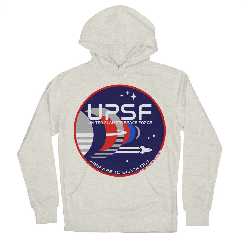 United Planets Space Force Logo Men's French Terry Pullover Hoody by Finish It! Podcast Merchzone