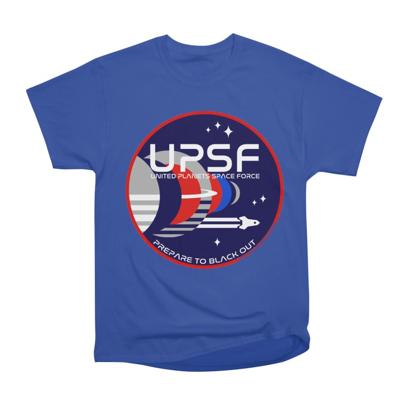 United Planets Space Force Logo Men's Heavyweight T-Shirt by Finish It! Podcast Merchzone