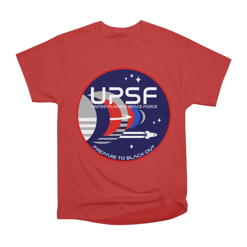 United Planets Space Force Logo Women's Heavyweight Unisex T-Shirt by Finish It! Podcast Merchzone