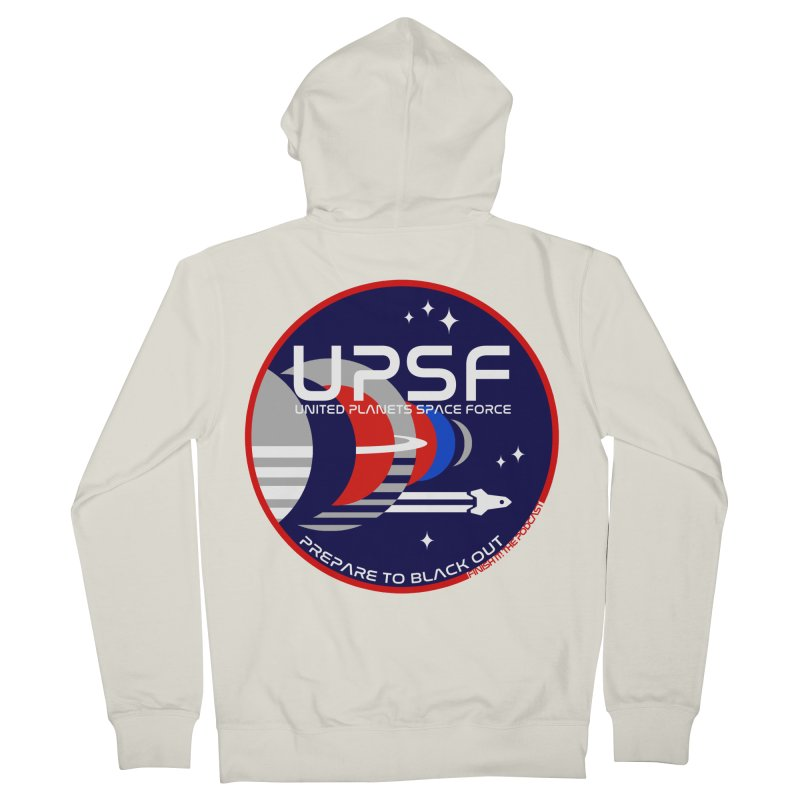United Planets Space Force Logo Women's French Terry Zip-Up Hoody by Finish It! Podcast Merchzone