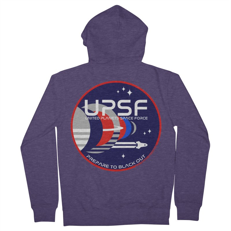 United Planets Space Force Logo Men's French Terry Zip-Up Hoody by Finish It! Podcast Merchzone