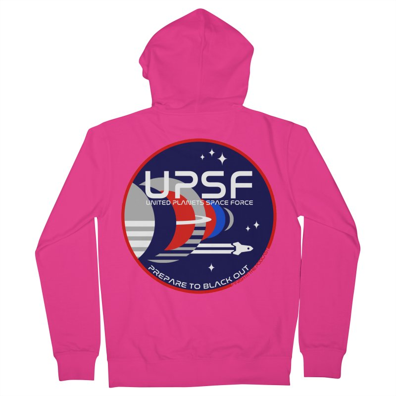 United Planets Space Force Logo Men's Zip-Up Hoody by Finish It! Podcast Merchzone