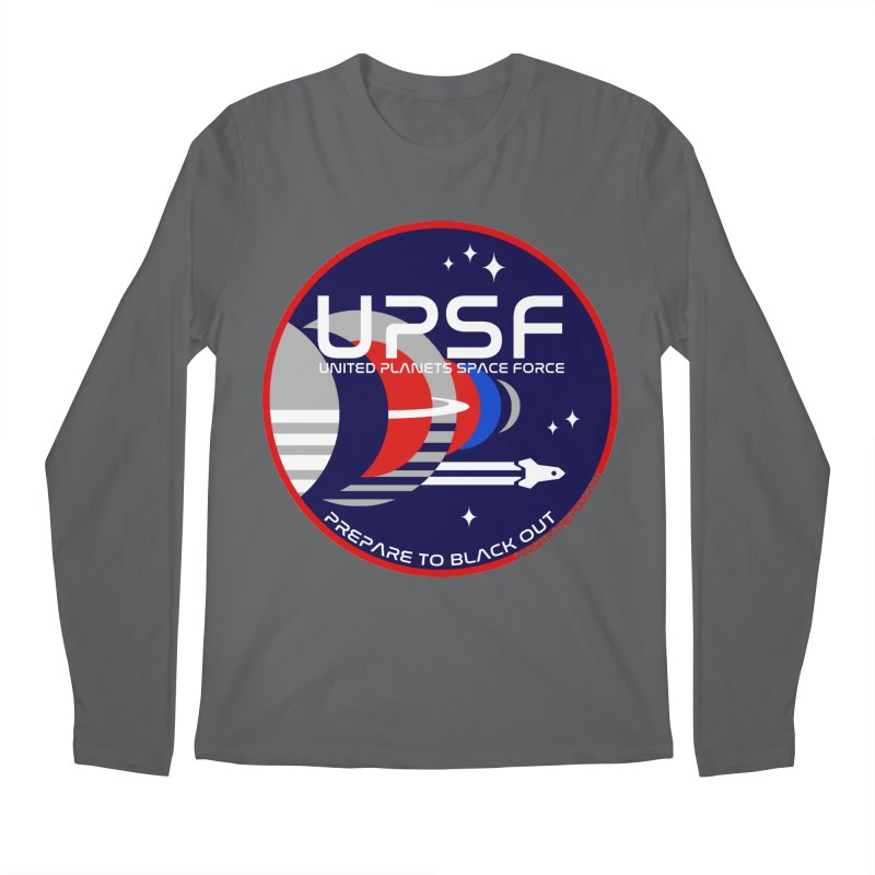 United Planets Space Force Logo Men's Longsleeve T-Shirt by Finish It! Podcast Merchzone