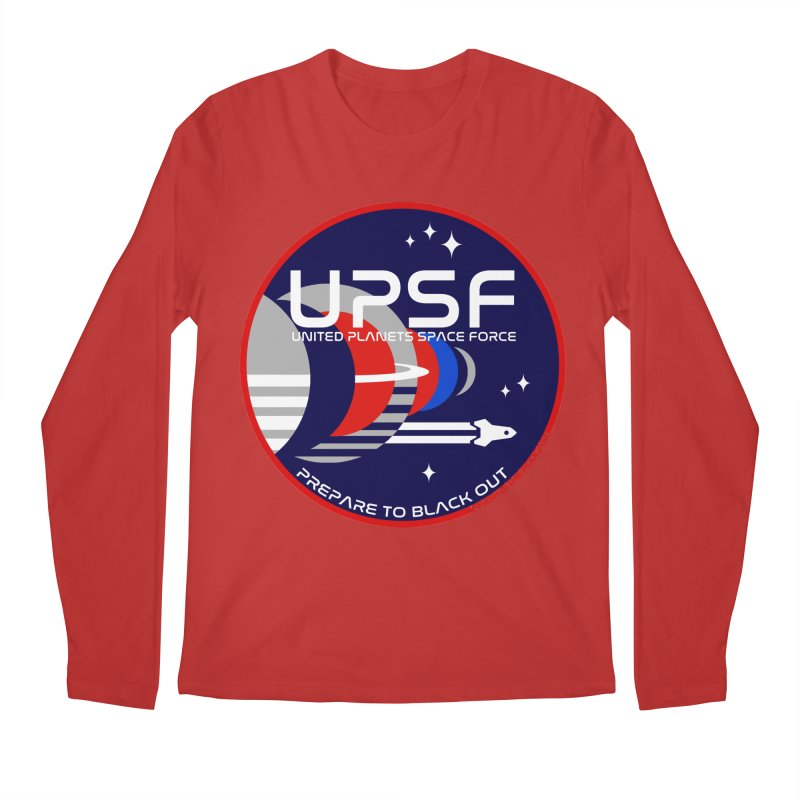 United Planets Space Force Logo Men's Regular Longsleeve T-Shirt by Finish It! Podcast Merchzone