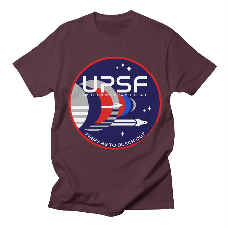 United Planets Space Force Logo Men's Regular T-Shirt by Finish It! Podcast Merchzone