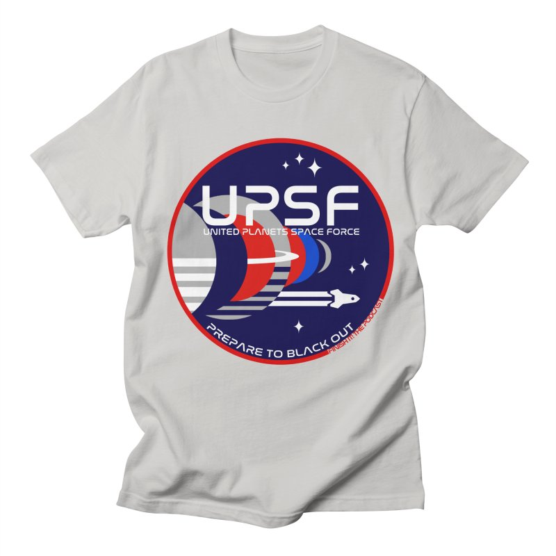 United Planets Space Force Logo Women's Regular Unisex T-Shirt by Finish It! Podcast Merchzone