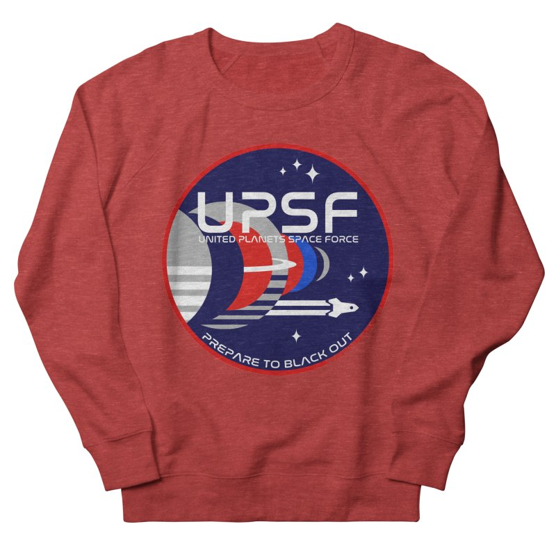 United Planets Space Force Logo Men's French Terry Sweatshirt by Finish It! Podcast Merchzone