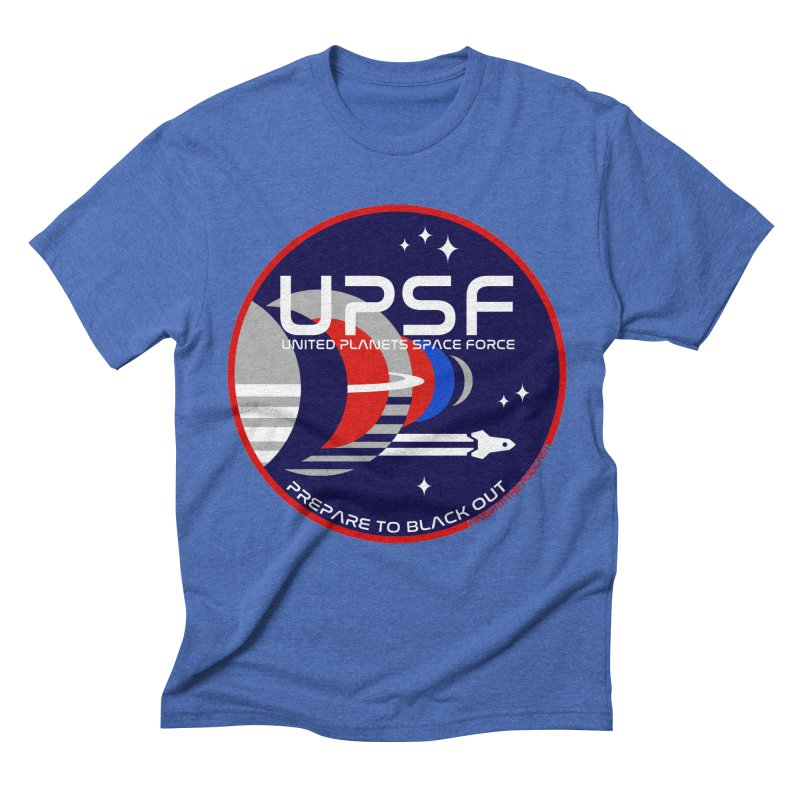 United Planets Space Force Logo Men's Triblend T-Shirt by Finish It! Podcast Merchzone
