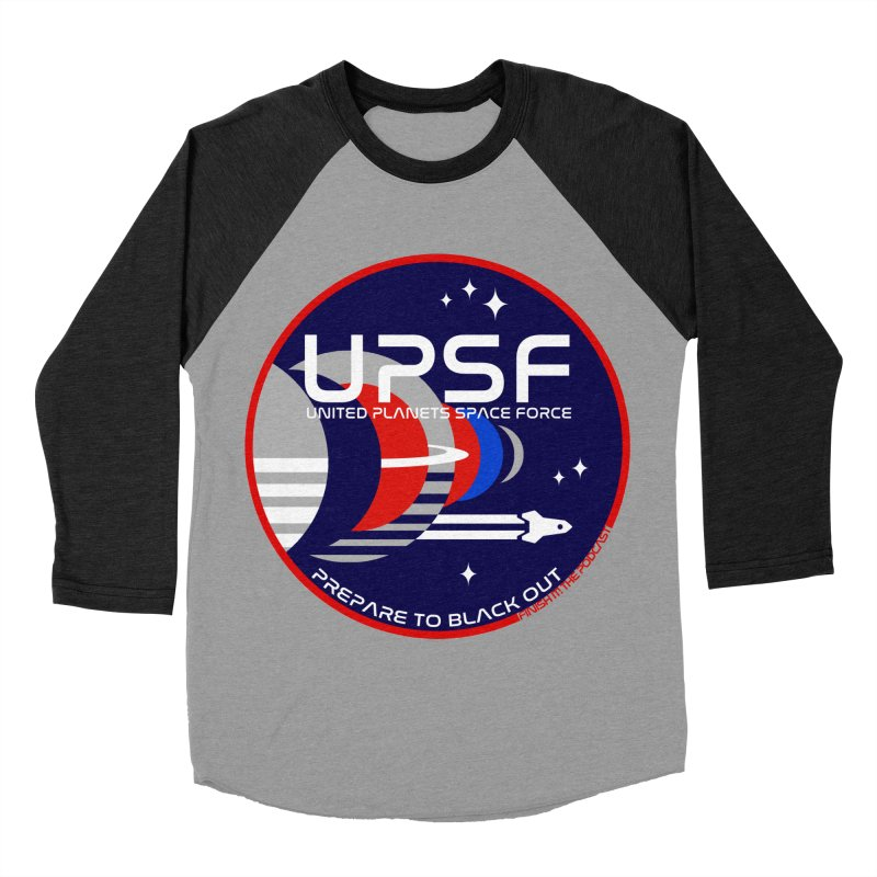 United Planets Space Force Logo Women's Baseball Triblend Longsleeve T-Shirt by Finish It! Podcast Merchzone