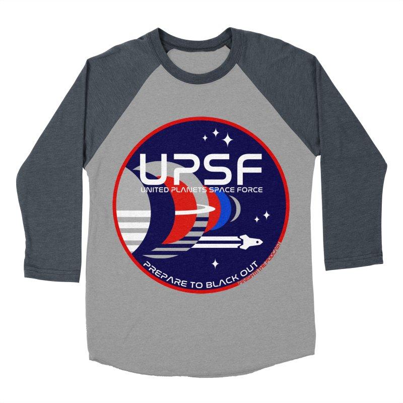 United Planets Space Force Logo Women's Baseball Triblend Longsleeve T-Shirt by Finish It! Podcast Merchzone